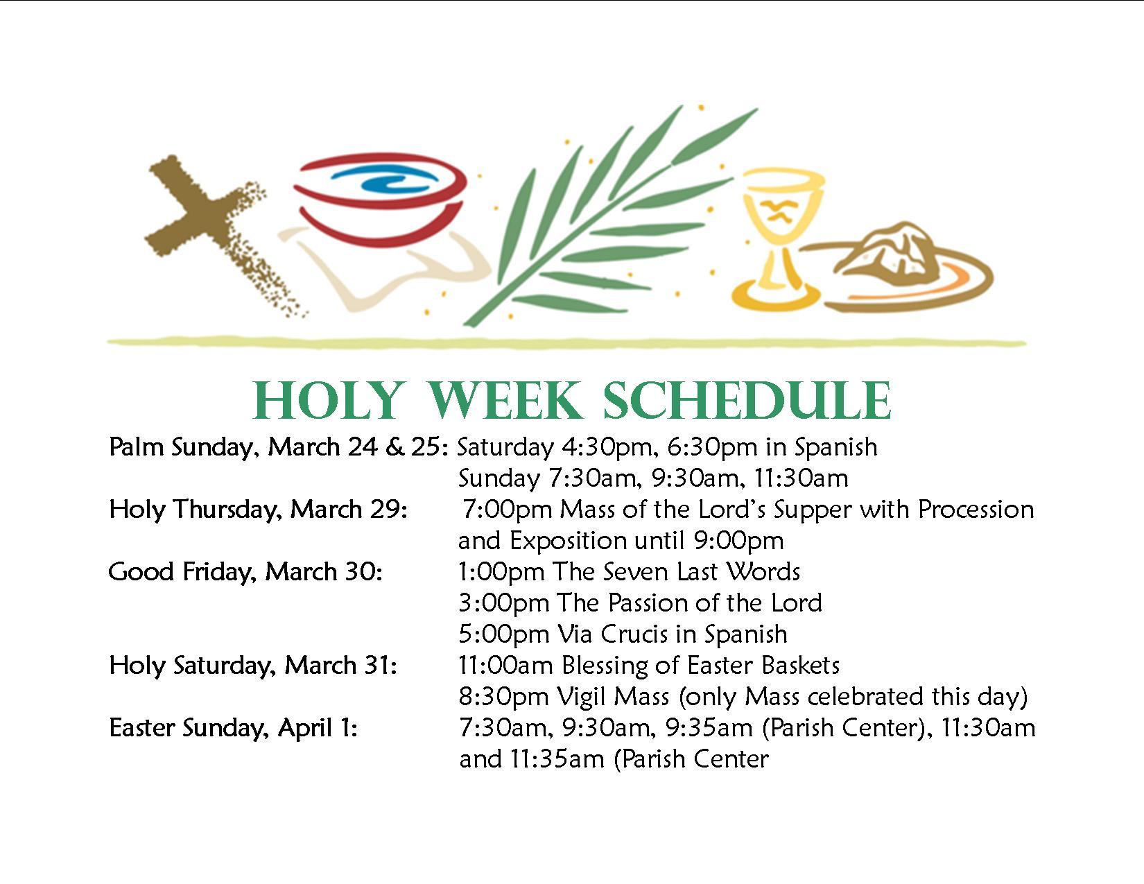 Holy-Week-Schedule